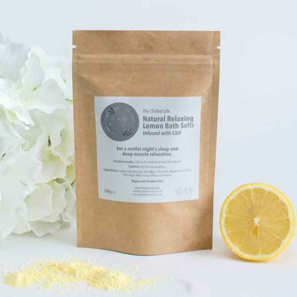 lemon CBD bath salts