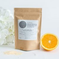 orange CBD bath salts